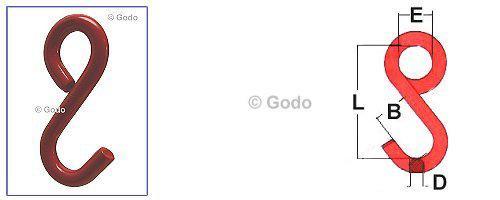 S Haken Geschlossene Form Gk8 13mm Tk03t 1687 Godo Onlineshop