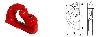 Baggerhaken Güteklasse 8 Anschweißhaken