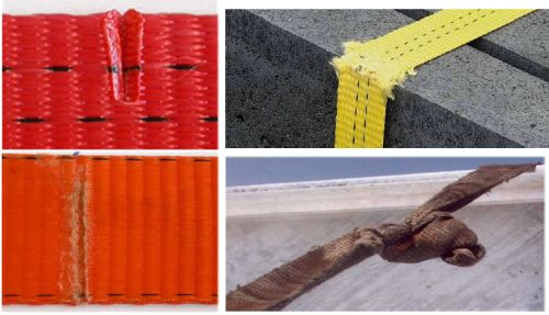 Ablegereife bei textilien Anschlagmitteln